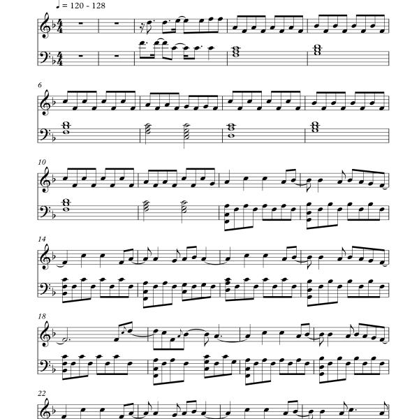 Hardwell ft Jake Reese - Mad World (Sheet Music)
